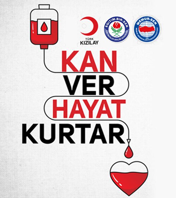 Eğitim Bir Sen Elazığ 2 No'lu Şube Yönetim Kurulu Üyeleri Kızılay'a kan bağışında bulundu.